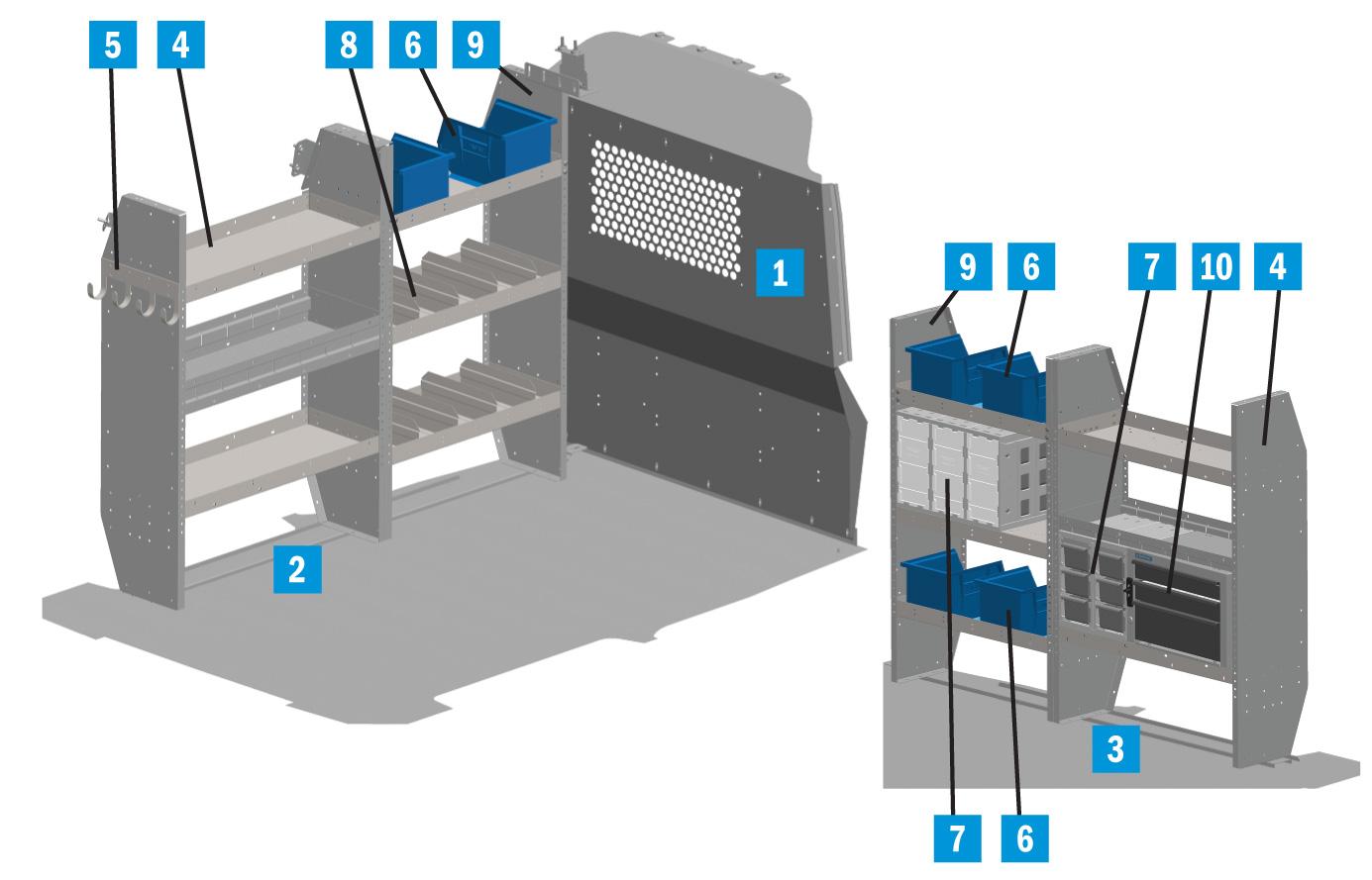 "Adrian Steel HD-28NV2 28/"" HD Adjustable Shelf Unit"
