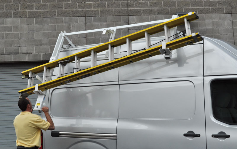 Dual Sided Loadsrite Ladder Rack White Nv High Roof