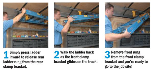 Interior Ladder Rack Ladder Keeper Store Ladder Inside