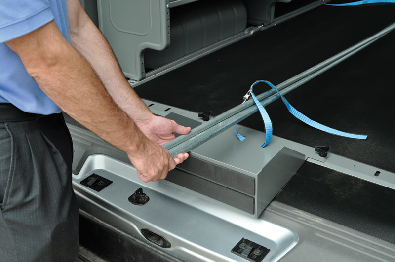 J&B can add Cargo Van Accessories to you upfit. Adrian Steel offers everything from hook bars, to bin systems, to door kits to take your upfit customization and organizational capabilities to the next level. For more information regarding this line of van accessories please call our sales team at 800-330-1229.