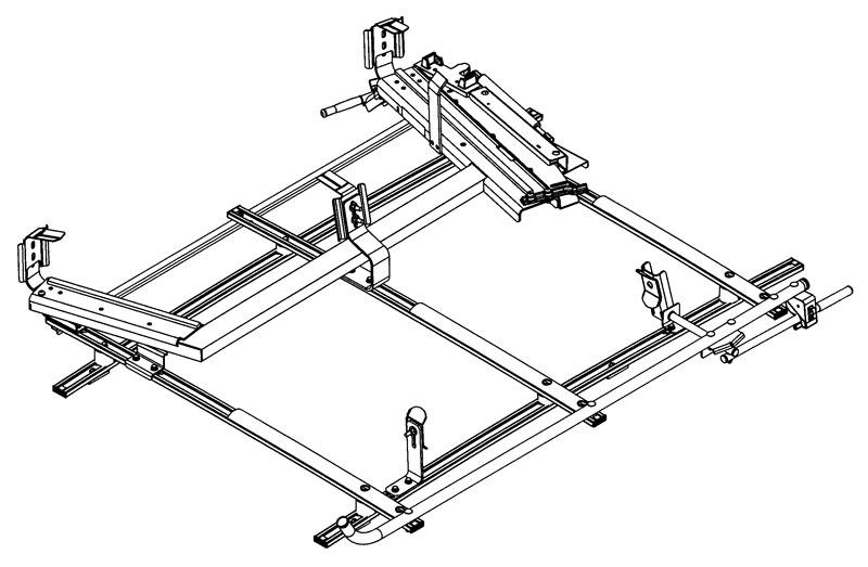 Loadsrite Combo Ladder Rack White Transit Connect