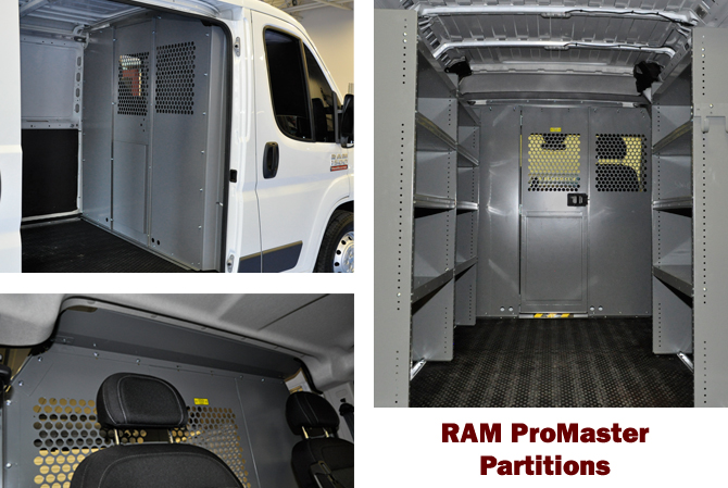 Partitions for Commercial van interior accessories