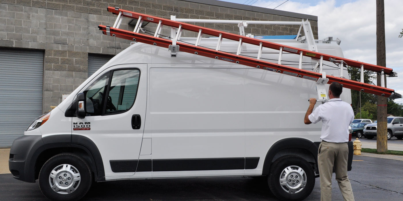 Double Loadsrite Ladder Rack High Roof Promaster