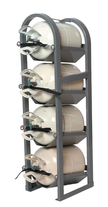 Refrigerant tank holder rack