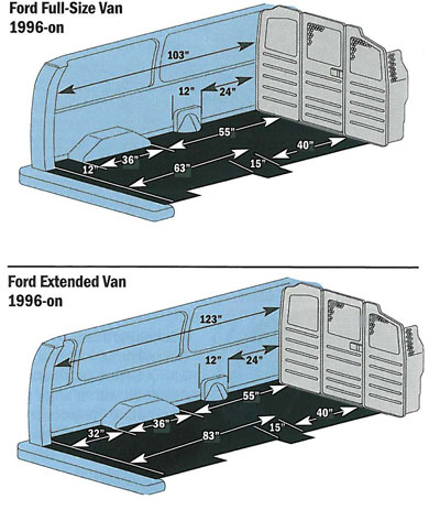 Ford econoline Ford econoline cargo van interior dimensions