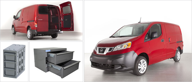 2013 Nissan NV200 Compact Cargo | Products for 2013 NV200 by Adrian Steel | Organize Nissan NV200 with drawers from Adrian Steel | Adrian Steel drawers organize your Nissan NV200
